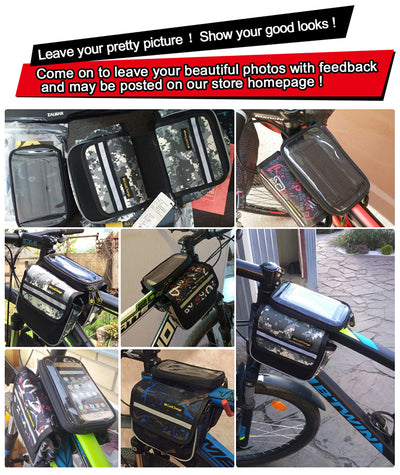 Bike Double Pouch Panniers Front Frame Cycling bags