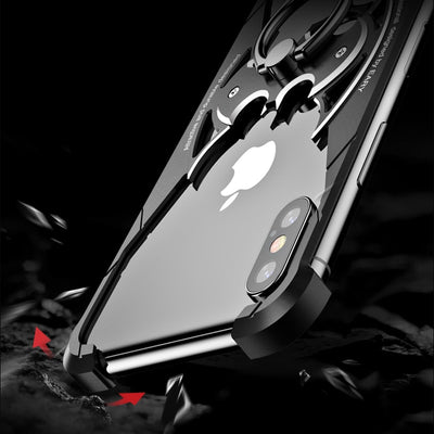 Bat Design Bumper Airbag Metal Case for iPhone