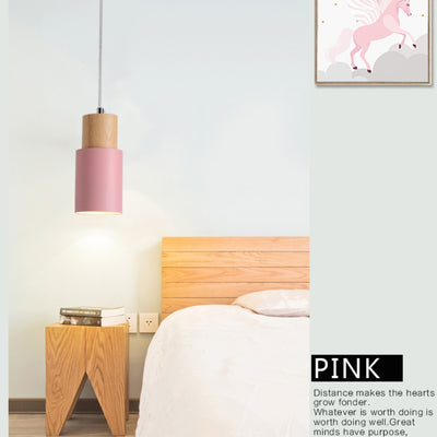 Nordic Wooden Base Decor Hanging Light