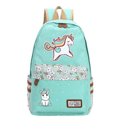 Unicorn Dab Canvas Backpack