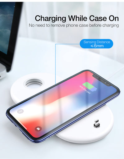 Wireless Charger for Mobile Phone and Apple Watch