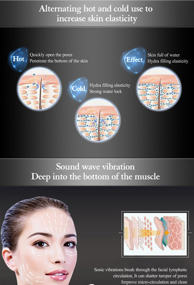 Ultrasonic Cryotherapy Facial Massage Skin