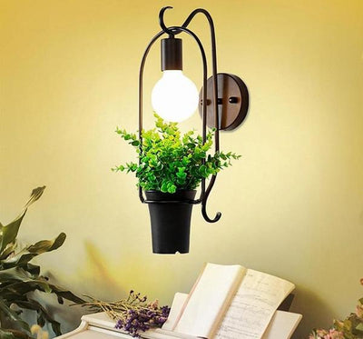 Modern Nordic Planter Decor Wall Lamp