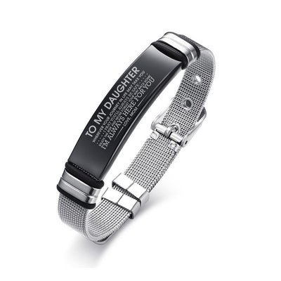 Personalized Bangle Men's Slide Mesh Bracelet
