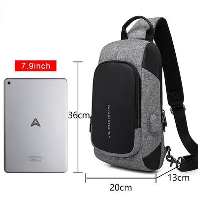 Luxury Waterproof USB Mobile Phone Charger Chest Bag