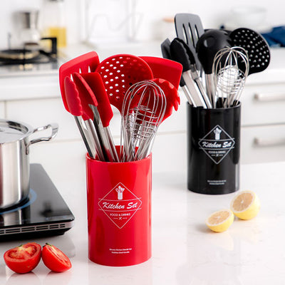 Stainless Steel Food Grade Silicone Cooking Tools Set