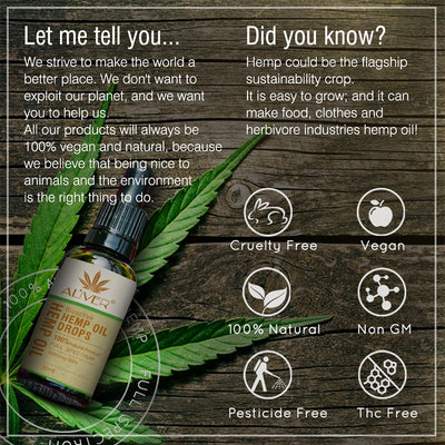 Organic Hemp Seed Oil Drops