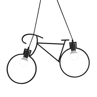 Retro Bike Design Hanging Pendant Lamp