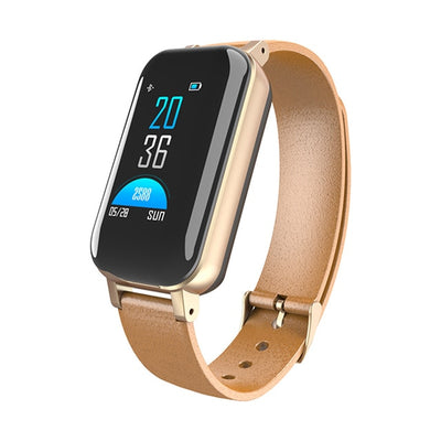 2019 New Smart Watch with Bluetooth 5.0 Dual Earphone