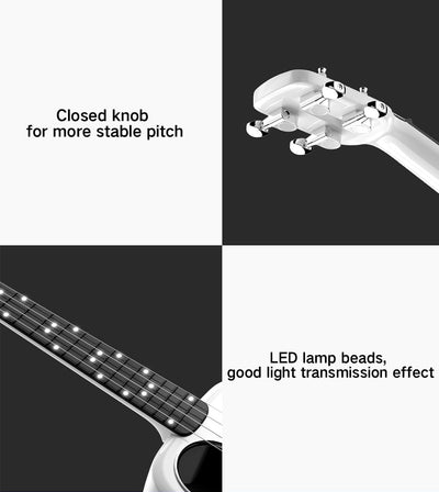 Smart USB Ukulele APP Control Bluetooth 4.0 and LED Lamp Beads