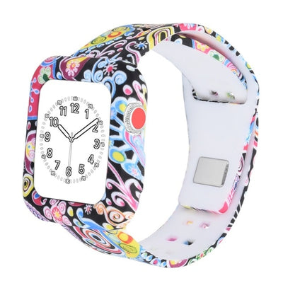 Silicone Watch Strap with Protective Case for Apple Watch