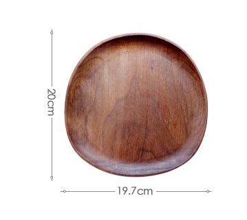 Wood Plate Tableware Set