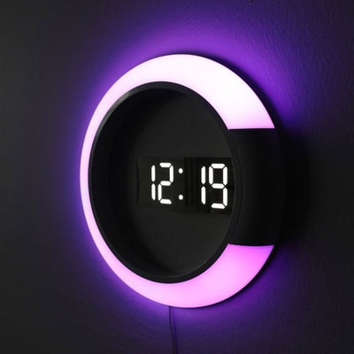 Creative Light Color Changing Decor Wall Clock