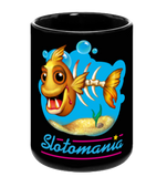 Zombie Goldfish Ceramic Mug - Black