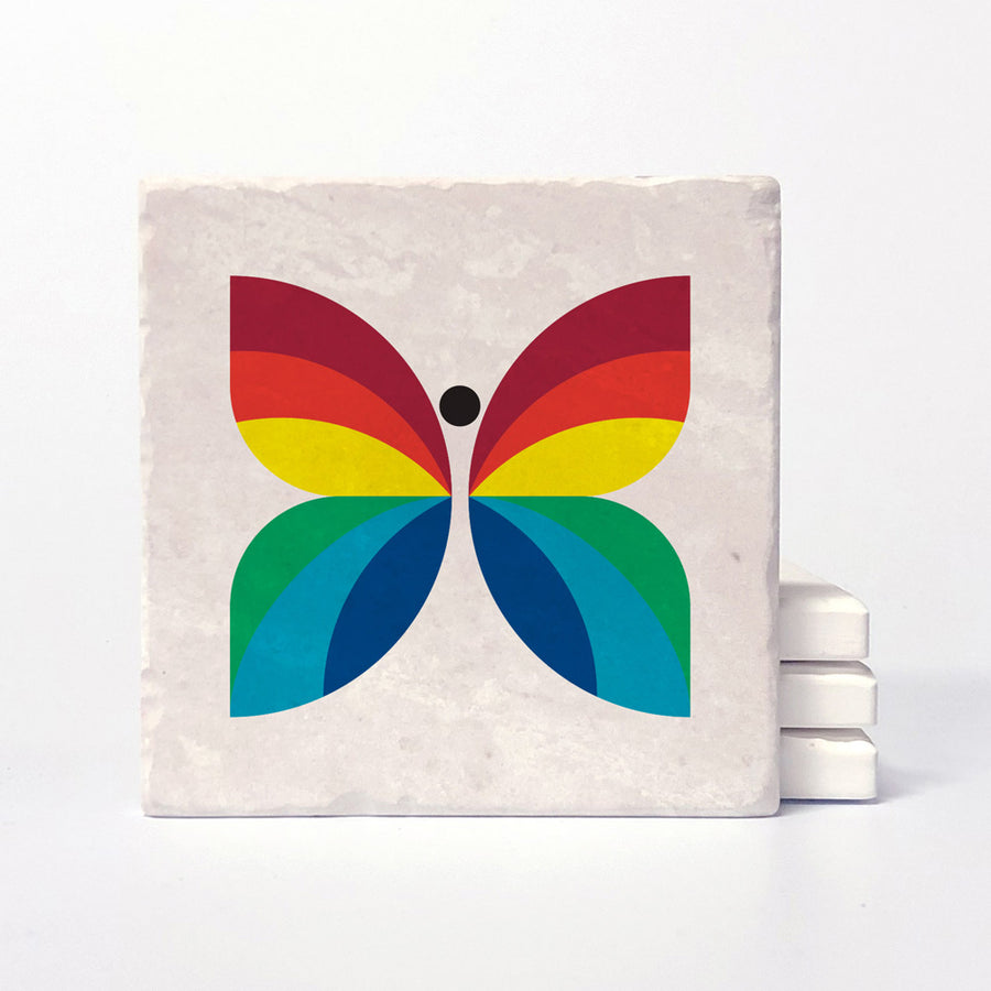 CBC Butterfly - 1966-1974 Logo Coaster