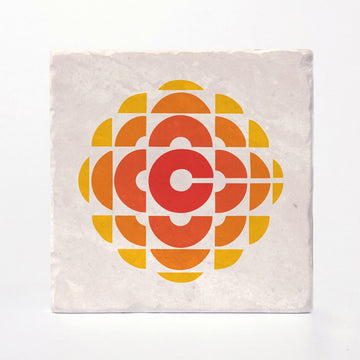 CBC Retro Gem - 1974-1986 Logo Coaster