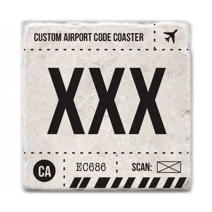 Custom Airport Code Coaster