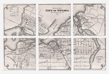 Vintage Ottawa Map from 1878
