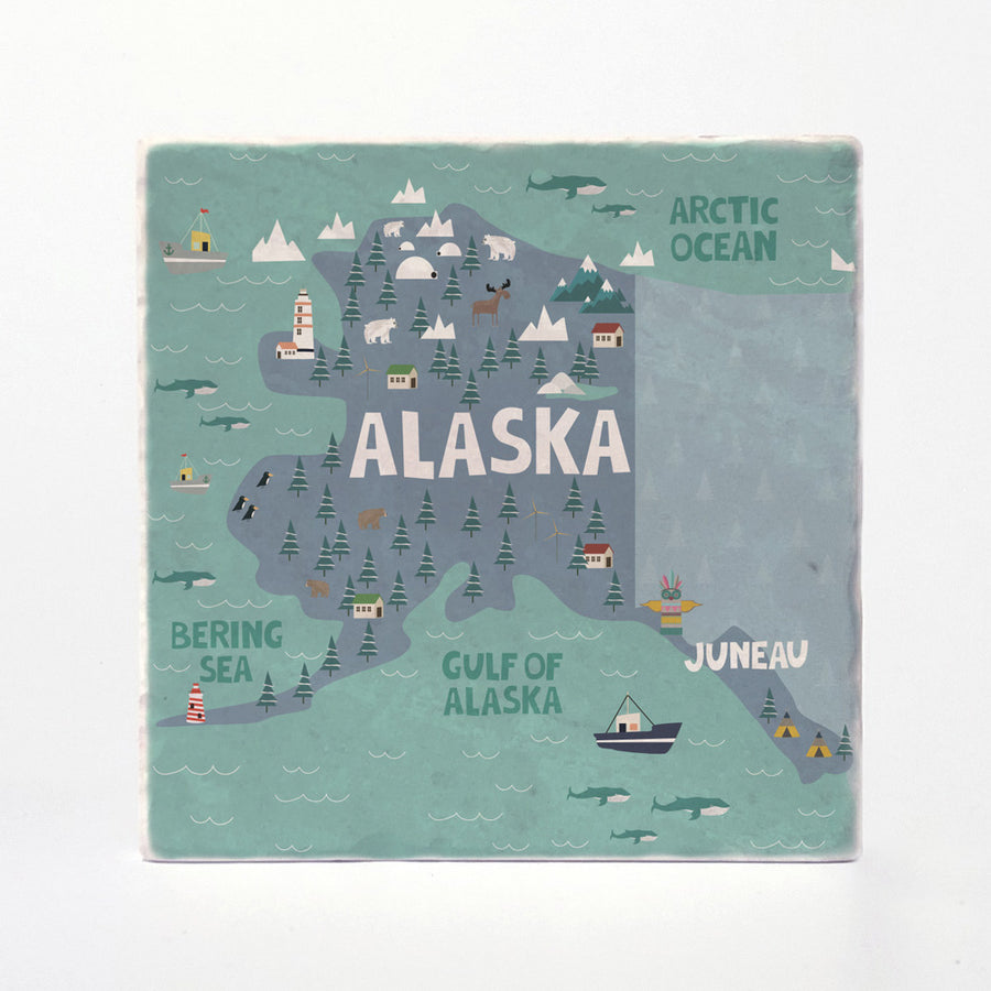 Alaska State Illustration