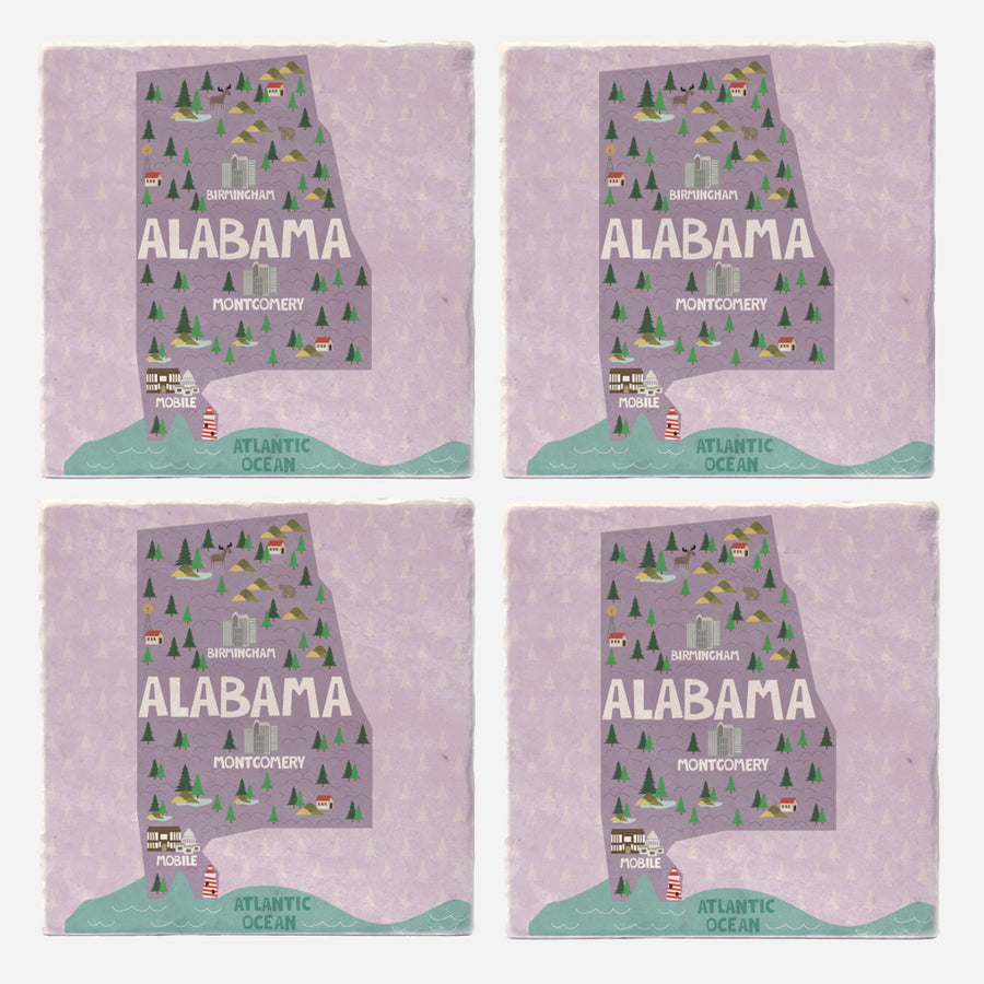 Alabama State Illustration