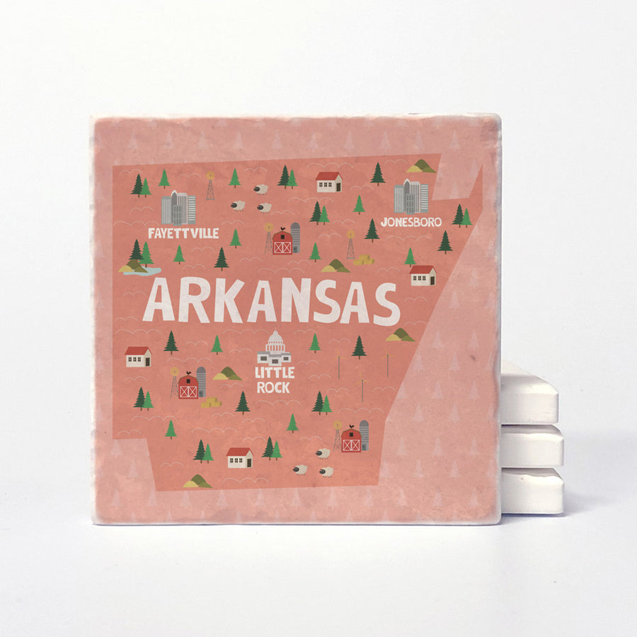 Arkansas State Illustration