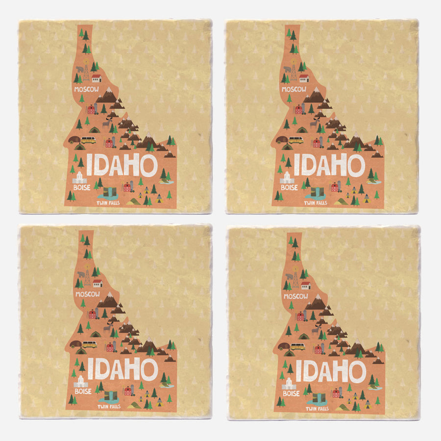 Idaho State Illustration