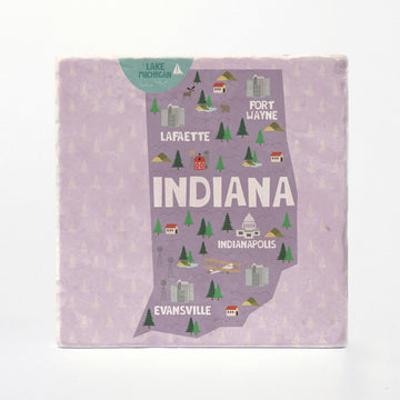 Indiana State Illustration