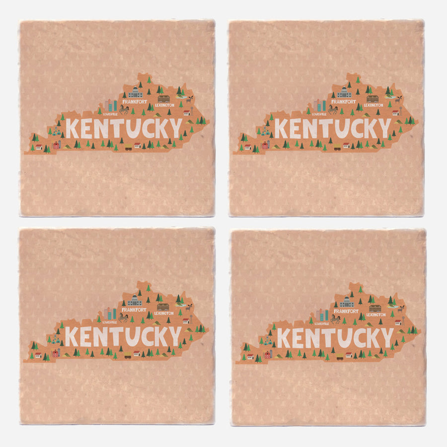 Kentucky State Illustration