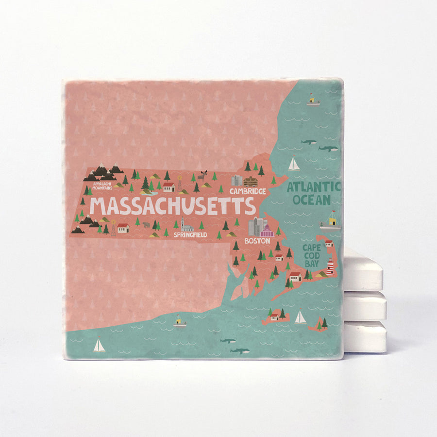 Massachusetts State Illustration