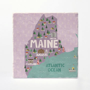 Maine State Illustration