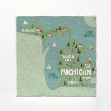 Michigan State Illustration