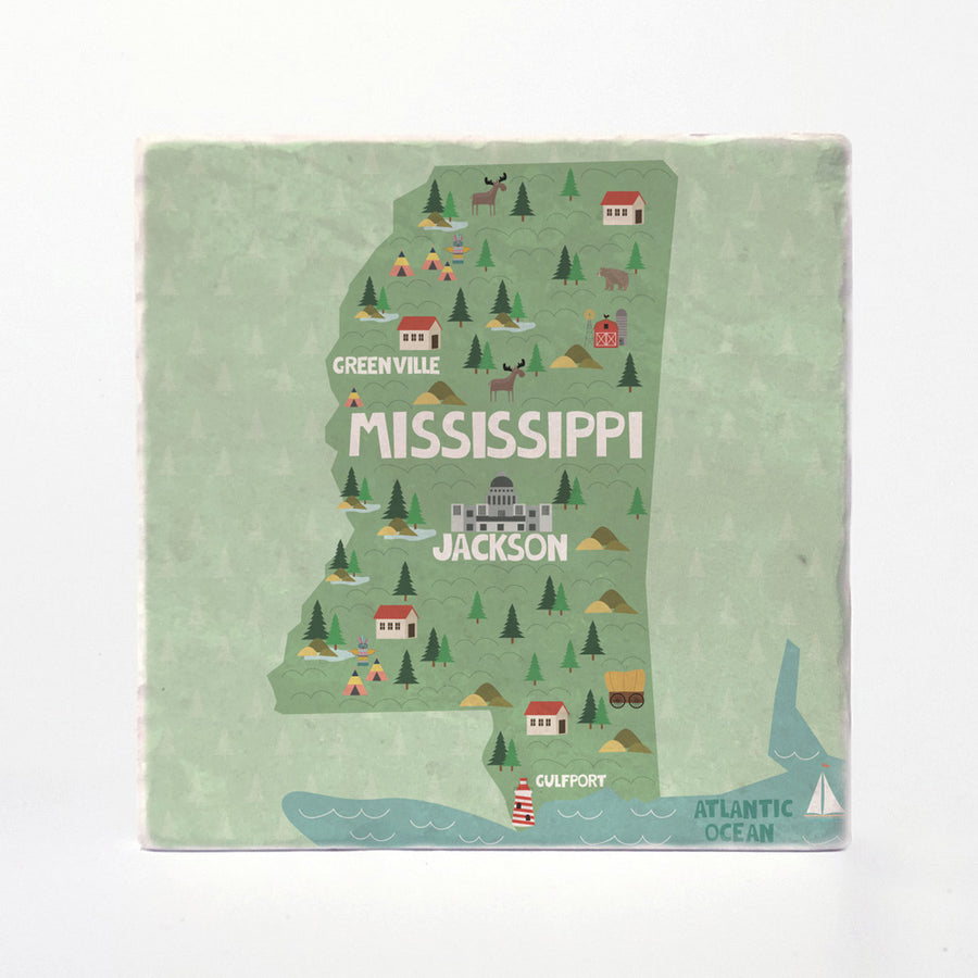 Mississippi State Illustration