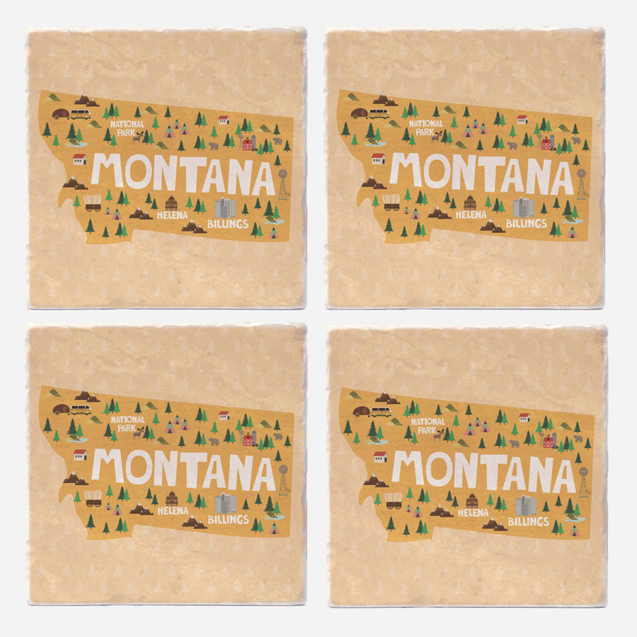 Montana State Illustration