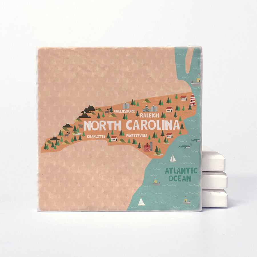 North Carolina State Illustration