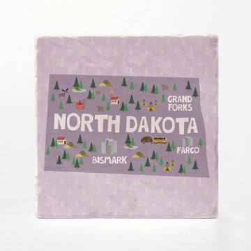 North Dakota State Illustration