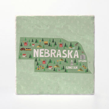 Nebraska State Illustration