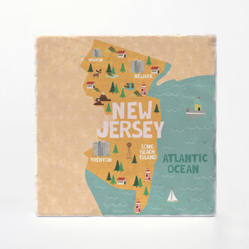 New Jersey State Illustration