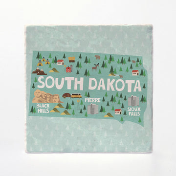 South Dakota State Illustration