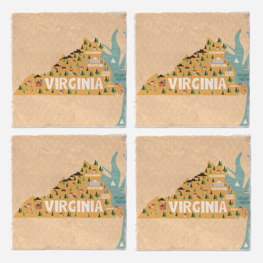 Virgina State Illustration