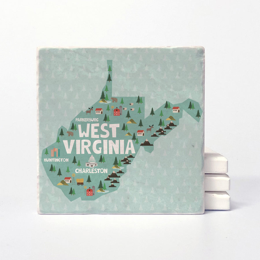 West Virginia State Illustration