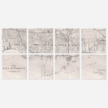 Toronto 1901 Map - Set of 8
