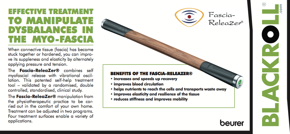 Endless therapeutic benefits with the *NEW* Fascia-ReleaZer®