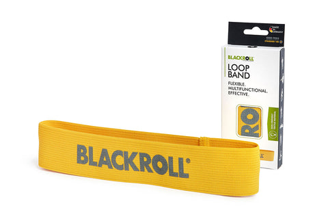 blackroll loop band yellow with package