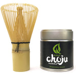 bamboo whisk and 40 grams of matcha