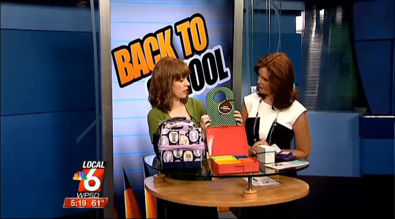 Milkdot Stöh lunch tote on WPSD Local 6 News, KY