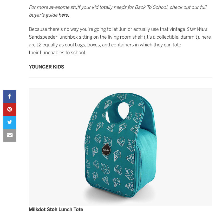 Milkdot lunch tote featured by Fatherly