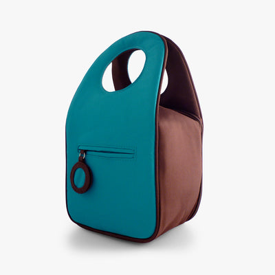 Milkdot blue raspberry insulated lunch bag back.