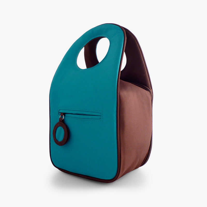 Milkdot blue raspberry insulated lunch bag.