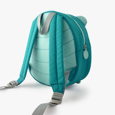 Milkdot blue toddler backpack back view.