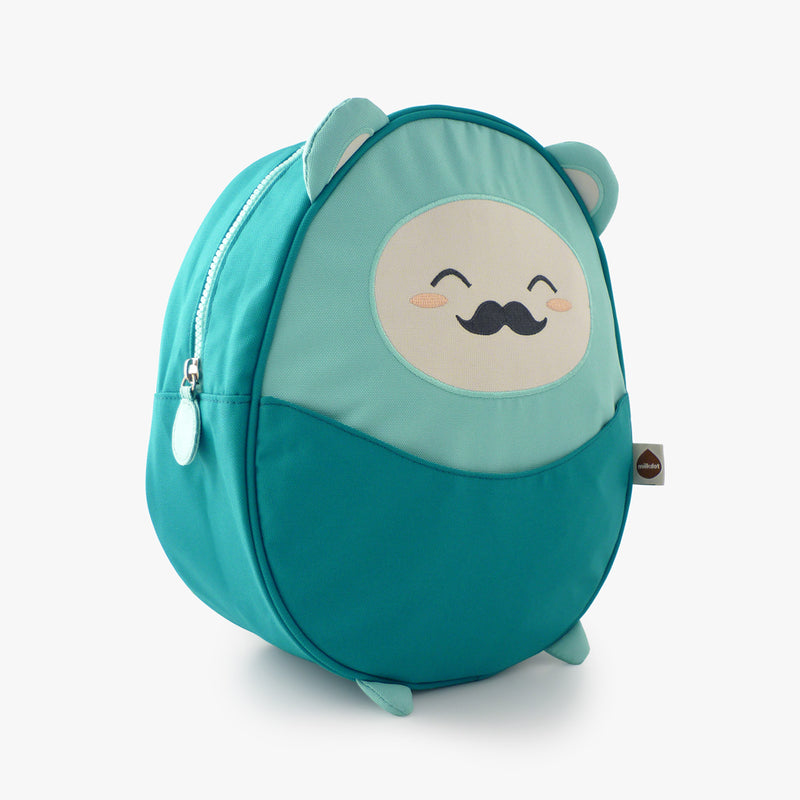 Milkdot blue toddler backpack.